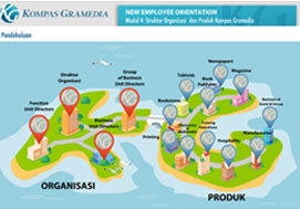 <h4><font style='font-weight: bold;color:#fff;'>Kompas Gramedia New Employee Orientation eLearning course</font></h4>e-Learning Module that provide useful and easily accessible source of information about Kompas Gramedia to new employee